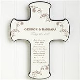 Our Marriage Blessing Personalized Cross - 6887