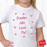 Somebody Loves Me Personalized Hanes® Youth T-Shirt - 6893-YCT