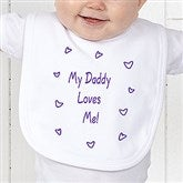 Somebody Loves Me Personalized Infant Bib - 6893-B
