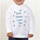 Somebody Loves Me Personalized Toddler Hooded Sweatshirt - 6893-CTHS