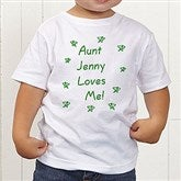 Somebody Loves Me Personalized Toddler T-Shirt - 6893-TT