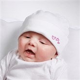 Somebody Loves Me Personalized Infant Cotton Hat - 6893-CH