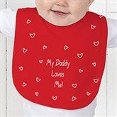 Somebody Loves Me Personalized Baby Bib - 6893-B