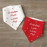 Somebody Loves Me Personalized Bandana Bibs- Set of 2 - 6893-BB