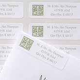 Floral Monogram Return Address Labels - 6915