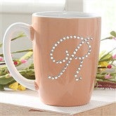 Rhinestone Monogram© Personalized Mug- Peach - 6950-PE