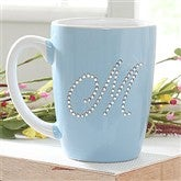 Rhinestone Monogram© Personalized Mug- Blue - 6950-BL
