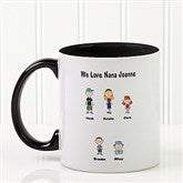 Character Collection Personalized Coffee Mug 11oz.- Black - 6977-B