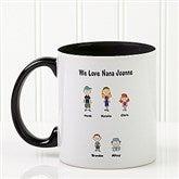 Character Collection Personalized Coffee Mug 11oz.- Black - 6977-B