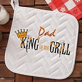 King Of The Grill© Personalized Potholder - 6994-P