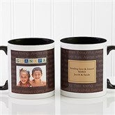 Just For Him Personalized Photo Coffee Mug 11oz.- Black - 7004-B