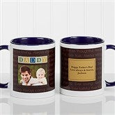 Just For Him Personalized Photo Coffee Mug 11 oz.- Blue - 7004-BL