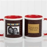 Just For Him Personalized Photo Coffee Mug11 oz.- Red - 7004-R