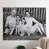 Black & White Photo Afghan - Deluxe Size - 7028D-D