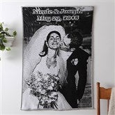 Black & White Photo Afghan - Standard Size - 7028D-S