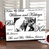 Mr. and Mrs. Collection Personalized Frame - 7035