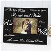 Mr. and Mrs. Collection Personalized Picture Frame - 7035