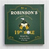 19th Hole© Personalized Bar Golf Canvas - 7043