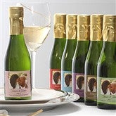 Filigree Personalized Sparkling Wine Bottle Favors - 7092D