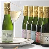 Elegant Personalized Sparkling Wine Bottle Favors - 7094D