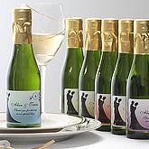 Silhouette Personalized Sparkling Wine Bottle Favors - 7098D
