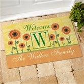 Summer Sunflowers Personalized Doormat - 7103