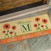 Summer Sunflowers Oversized Personalized Doormat- 24x48 - 7103-O