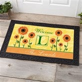 Summer Sunflowers Personalized Doormat- 20x35 - 7103-M