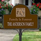 Floral Monogram Personalized Magnetic Garden Sign - 7109-M