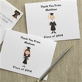 Graduation Character Custom Note Cards & Envelopes - 7115