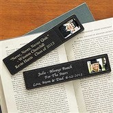 Black Leather Bookmark - 7124