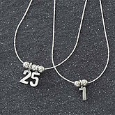 Your Special Number Sterling Silver Necklace - 7131D-N