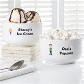 Family Characters Personalized Treat Bowl - 7134