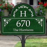 Elegant Monogram Address - Yard Stake With Magnet - 7152-S