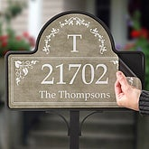 Elegant Monogram Address© - Magnet Only - 7152-M