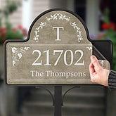 Elegant Monogram Address - Magnet Only - 7152-M