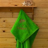 Beach Fun! Beach Towel - Lime Green - 7162-L