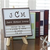 Monogram© Baby Announcement Canvas Art - 7178