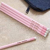 Personalized Pastel Pink 12pc Pencil Set - 7186