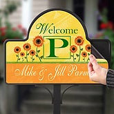Summer Sunflowers Personalized Magnetic Garden Sign - 7197-M