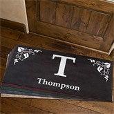 Scroll Leaf Monogram Personalized Doormat- 24x48 - 7198-O