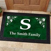 Scroll Leaf Monogram Personalized Doormat- 20x35 - 7198-M