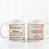 The Day You Were Born Personalized Coffee Mug 11 oz.- White - 7218-W