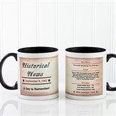 The Day You Were Born Personalized Coffee Mug 11oz.- Black - 7218-B