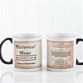 The Day You Were Born Personalized Coffee Mug 11oz.- Black - 7218-B
