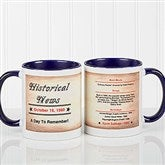 The Day You Were Born Personalized Coffee Mug 11oz.- Blue - 7218-BL