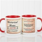 The Day You Were Born Personalized Coffee Mug 11oz.- Red - 7218-R