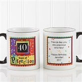Aged to Perfection Personalized Coffee Mug 11 oz.- Black - 7219-B