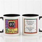 Aged to Perfection Personalized Coffee Mug 11 oz.- Black - 7219-B