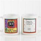 Aged to Perfection Personalized Birthday Coffee Mug 11 oz.- White - 7219-S
